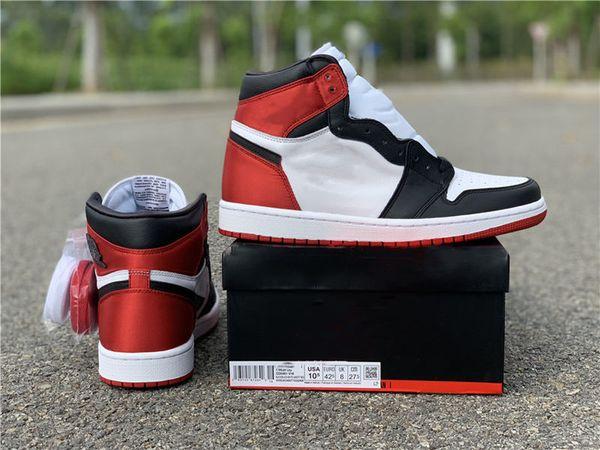 2019 1s Satin WMNS Black Toe CD0461-016 женская баскетбольная обувь с коробкой StockX tag высокое качество 1S sneaker trainer Бесплатная доставка оптом