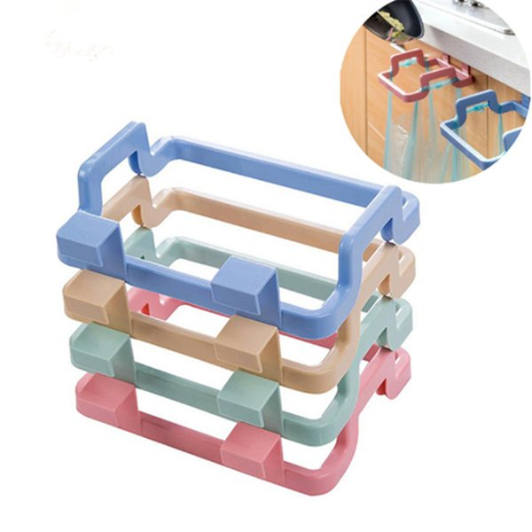 1Pcs Kitchen Gadgets Cabinet Door Garbage Bag Shelf Rag Pylon Kitchen Rack Hanging Storage Trash Rack Kitchen Accessories-S for wh0079
