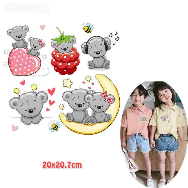 2019 Cute Gray Bear Hot Transfer Multi Style Sticker Ironing Patch Cartoon  Style Thermal Transfer For Kids Shirt Dress From Patches, $1.77