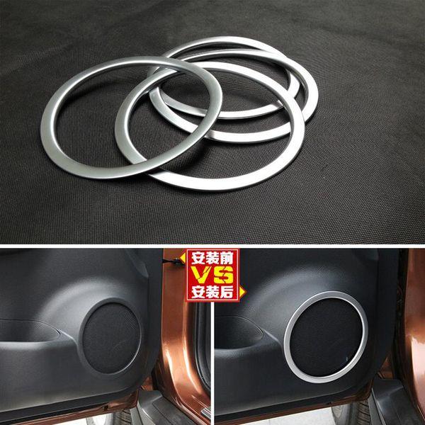 El anillo del ajuste del sonido del altavoz de la puerta de coche del cromo del ABS para Nissan X-Trail Rogue 2014-2017
