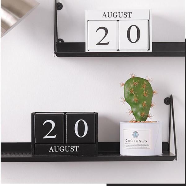 New Wooden Calendar Creative Home Decoration Ornaments Living Room Desktop Bookstore Bar Decoration Perennial Calendar