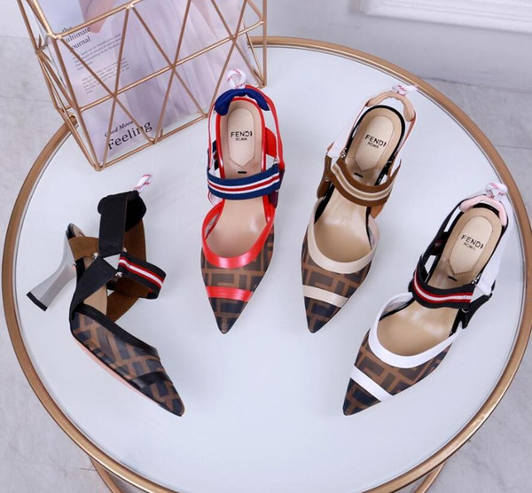 Heel 5.5CM Luxury Slides Slippers Heels Shose Women Flat Designe High Soft 2019 Wire Side Plush Rome Rubber Concise Basic