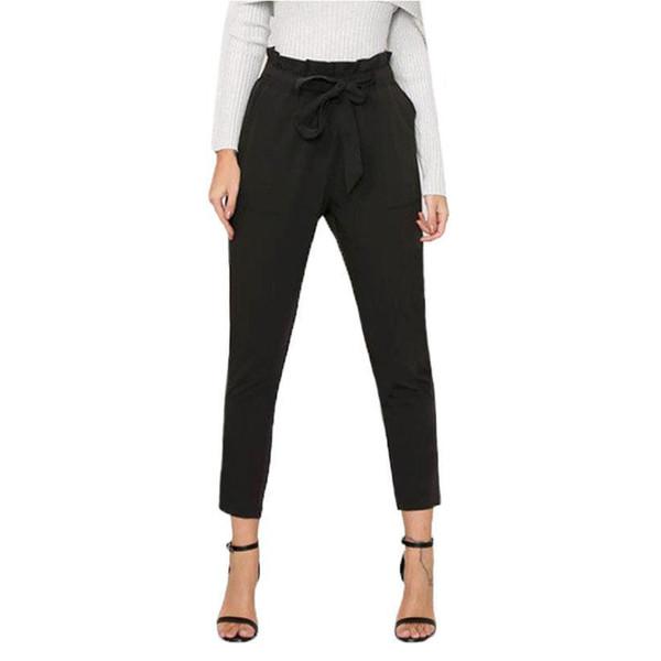 Women Long Casual Pencil Pants Trousers For Women Female Trouses Solid Color Elastic Waist Pants Plus Size S,M,L KH869516