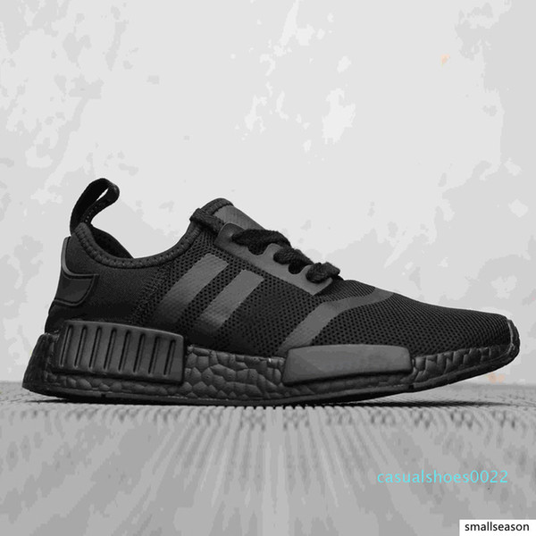 top popular 2019 Wholesale Discount Cheap pink red gray NMD R1 Primeknit PK Low mens shoes and women casual shoes Classic Fashion designer shoes C22 2021