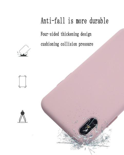 Einfaches Süßigkeitfarbensilikon für iphone X Telefonkasten Flüssigsilikonantifallkasten für iphone 7/8 / 7p / 8p / Xs / Xr / Xs max