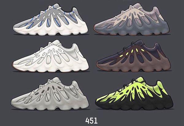 Kanye West 451 Wave Runner Volt Мужские кроссовки для мужчин Спортивные кроссовки 451s Mauve Тверды