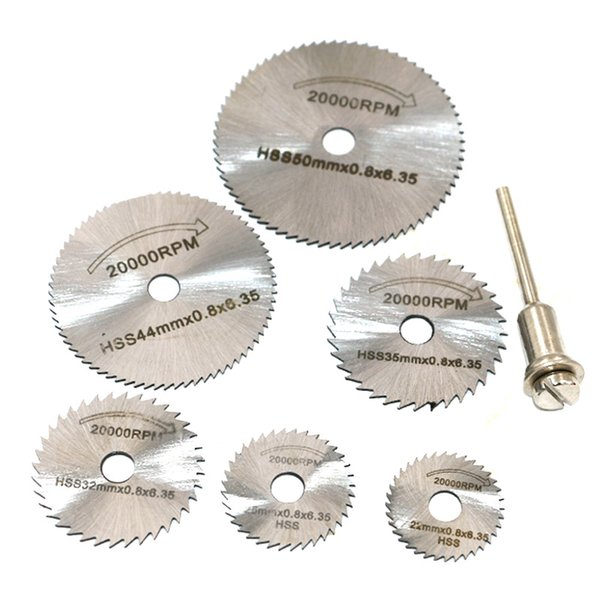 mandrel bar New Portable Rotary Tool Circular Saw Blades Cutting Discs Mandrel For Dremel Cutoff QST7pcs