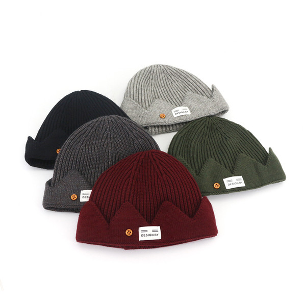 Winter Warm Skull Beanies Hats Fashion Trendy Women Men Outdoor Warm Woolley Ribbed Knitted Hat Free Shipping