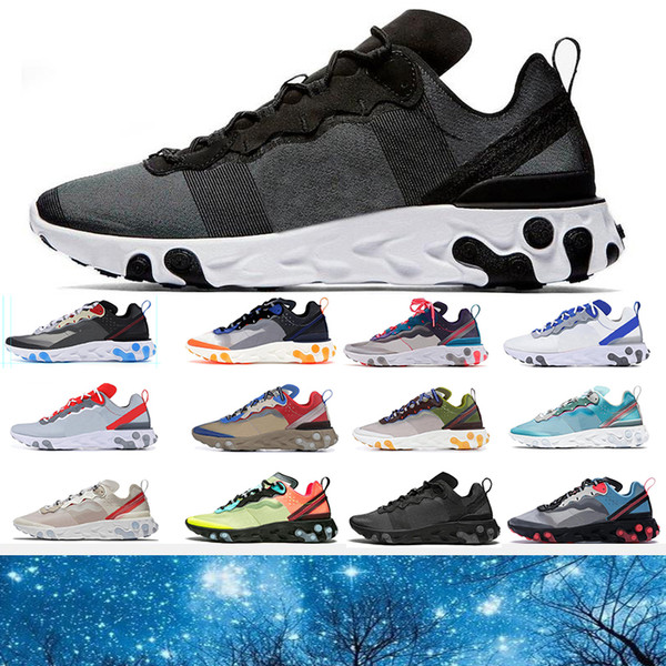 Großhandel Nike Air React 87 55 Total Orange React Element 87 Laufschuhe Für Damen Herren Dunkelgrau Blau Chill Trainer 87s Segel Grüne Nebel