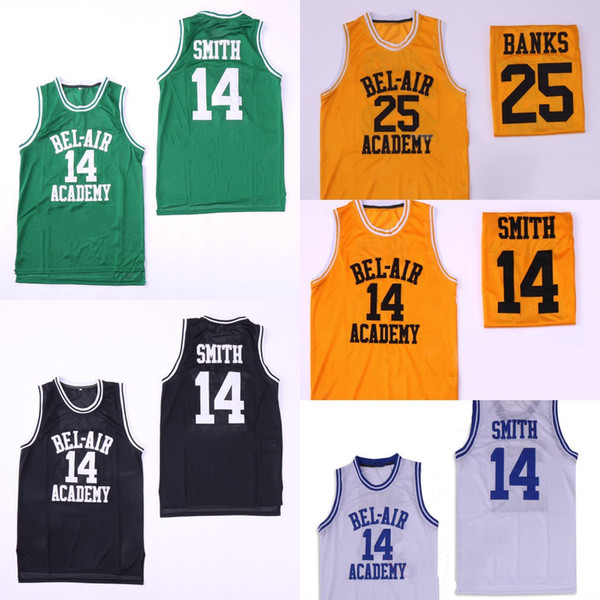 #14 Will Smith Jersey The Fresh Prince of Bel Air Academy #25 Carlton Banks Movie Jerseys Free Shipping