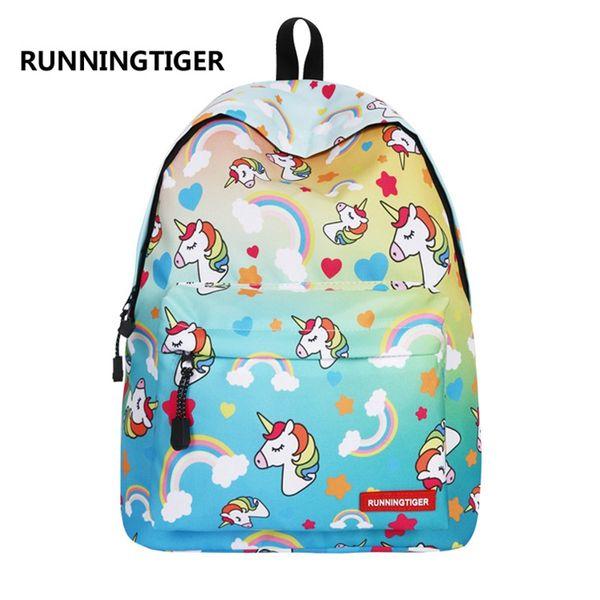 Outdoors Knapsack Unicorn Bag Travel Mini Cartoon Backpack School Children Colors Mix Students Anti Wear 37ruf1