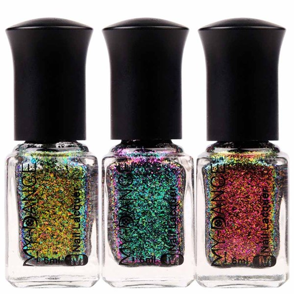 6ML Holographic Starry Sky Nail Polish Mirror Effect Chameleon Varnish Professional Nail Gel Polish Glitter Lacquer 11Colors