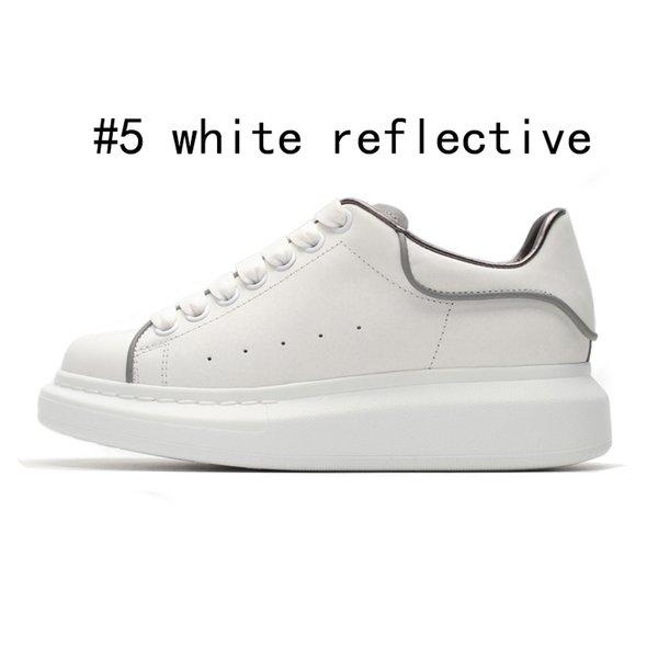 5 weiße reflektierende 36-44