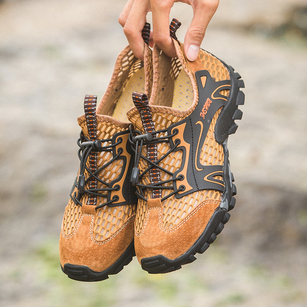 Unisex Sandals Men Beach Breathable Shoes Lightweight Quick Dry Shoes Footwear