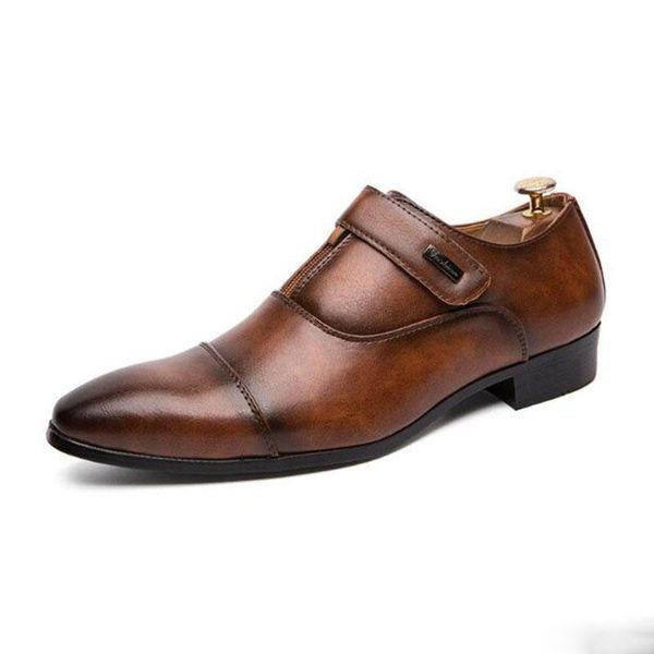 Fait à la main Vintage Rétro Plat De Mariage Partie Danse Bureau Mode Homme Dîner Parti Chaussure En Cuir Véritable Hommes Oxford Robe Chaussures