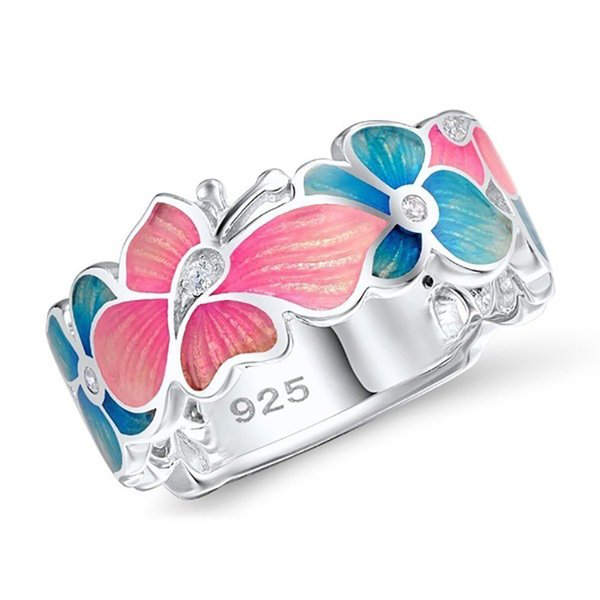 Fashion flower butterfly animal design rings,silver colors plated rings freeshipping