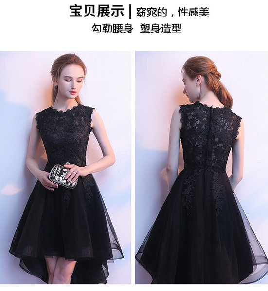 2019 new party host elegant slim department girls before short after long wedding dress for any temperament of girls