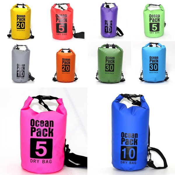 New Water Proof Dry Bag Sack Waterproof Backpack Compression Sack Gears For Floating Kayaking Boating Hiking Camping Swimming Bag M241Y
