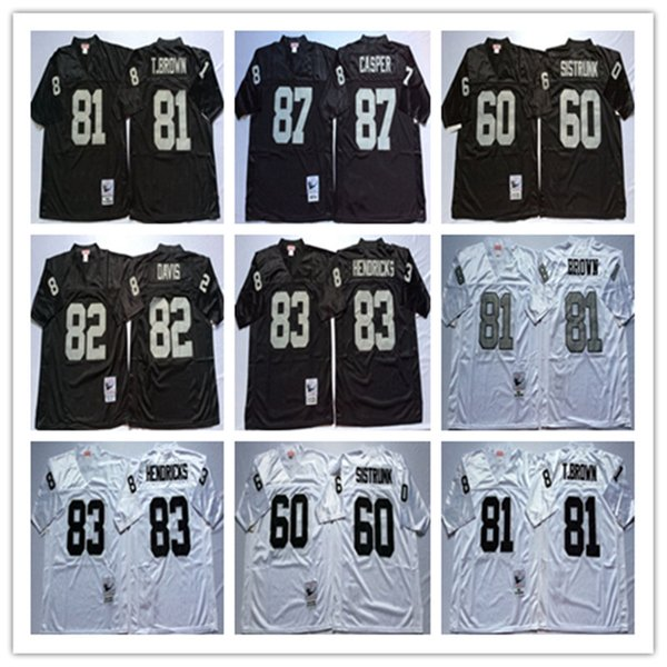 buy popular 4e553 91d23 2019 Best Quality 82 AI Davis 87 Dave Casper 60 Otis Sistrunk 83 Ted  Hendricks Regression Black White Jerseys Wholesale Mens Stitching Jerseys  From ...