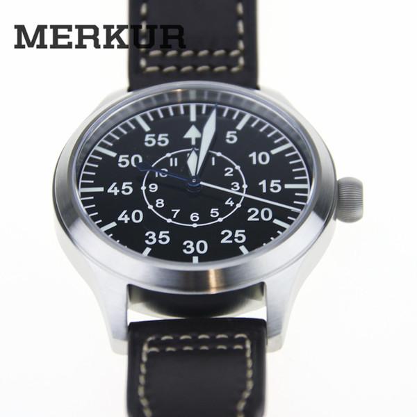 japan automatic mvt Flieger Pilot Enamel Dial Watch Mens Heated Blue Sapphire B-Uhr Chronograph 300M WR Type b