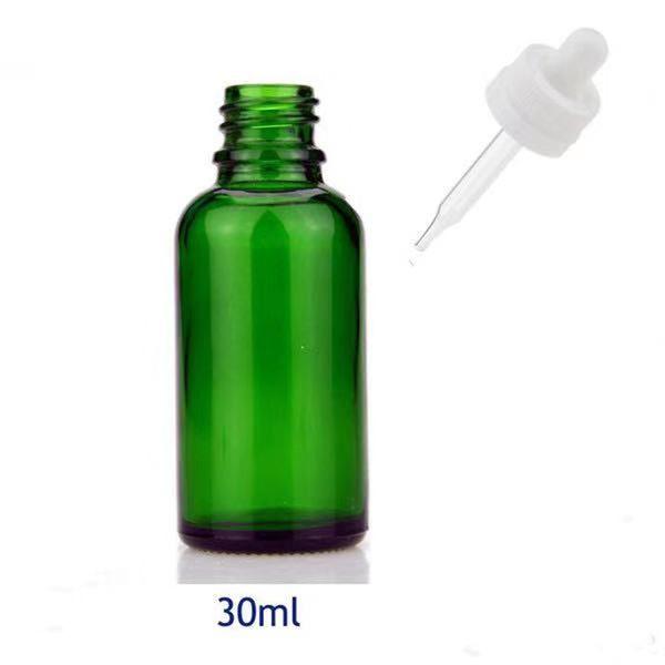 30ml green bottle white cap