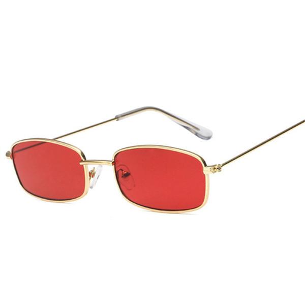 Eastway Küçük Güneş Kadınlar Metal Erkekler Retro Gözlük Kadın Kırmızı Pembe Lens Gözlük Vintage Bayanlar Açık Gözlük UV400
