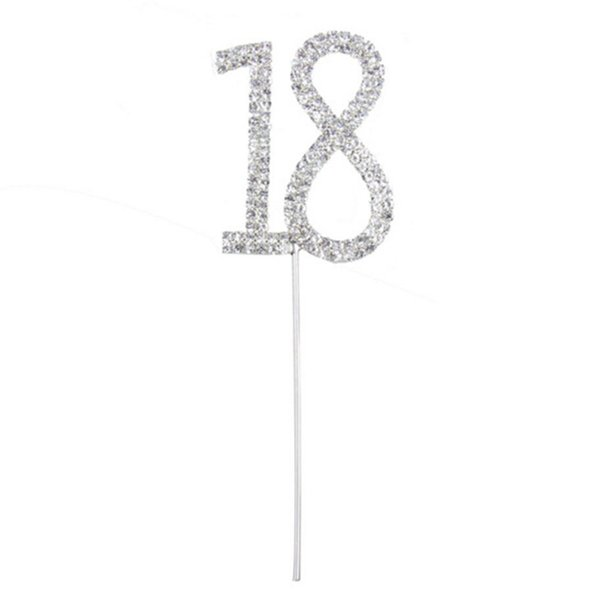 Anniversario Matrimonio Numeri Lotto.Acquista Accessori Cake Topper Matrimonio Mini Decorazioni Strass