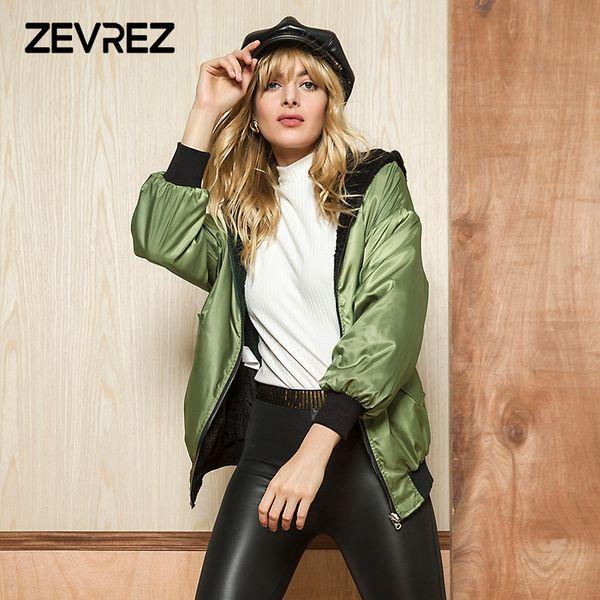 5fa0a70616 2018 nova moda outono inverno feminino casaco desgaste em ambos os lados  casaco quente bolsos o