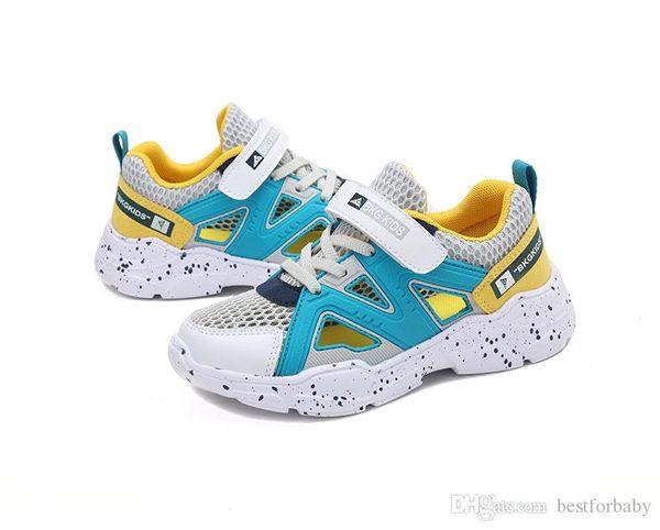 Enfants Anti-Slip Mode d'été Chaussures Toe fermé évider Athletic Sandales Mesh Casual Chaussures de marche Respirant
