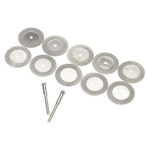 10pcs 30mm Diamond Cut Off disque Roue outil rotatif w / Arbor