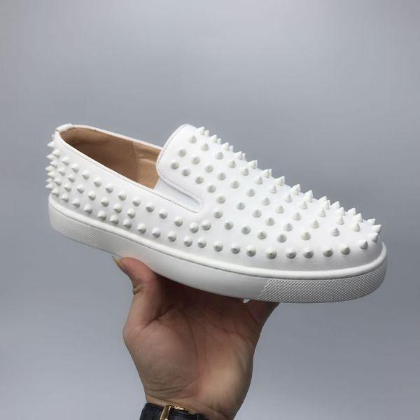 Designs Fashion Spike Low Cut Party Kleid Schuhe Red Bottom Sneaker Party Hochzeitsschuhe Echtes Leder Freizeitschuhe