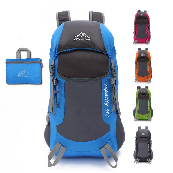 Ultraligero bolsa de montañismo al aire libre mochilas de viaje hombres mujeres mochilas deportivas plegables bolsa duradera impermeable para unisex
