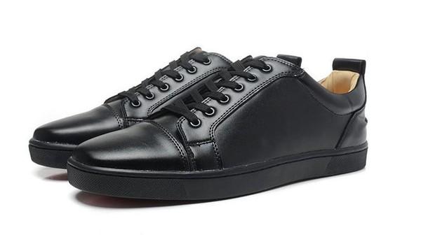 Yeni 2019 erkekler kadınlar marka daireler, siyah hakiki deri yukarı dantel spor ayakkabısı, tasarımcı kaykay ayakkabıları, nedensel yürüyüş ayakkabıları 38-46 Damla Nakliye
