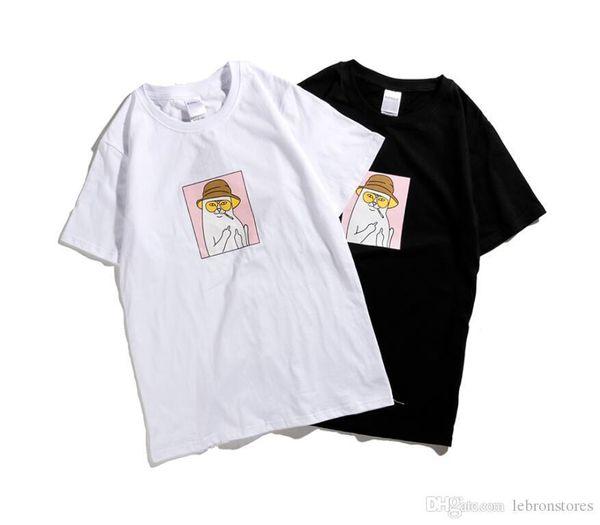 maniche corte sciolto hip hop uomini comodi casuali e donne paio maglietta Nuova camicie da uomo di lusso T stampa di cotone marchio di moda allentato