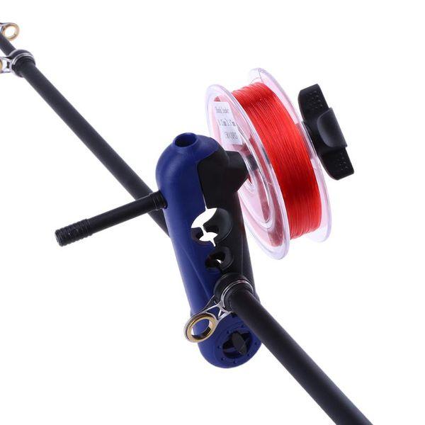 Adjustable Plastic Fishing Line Spooler Portable Universal clips on all Sizes Rod Bobbin Reel Winder Board Spool Line Wrapper