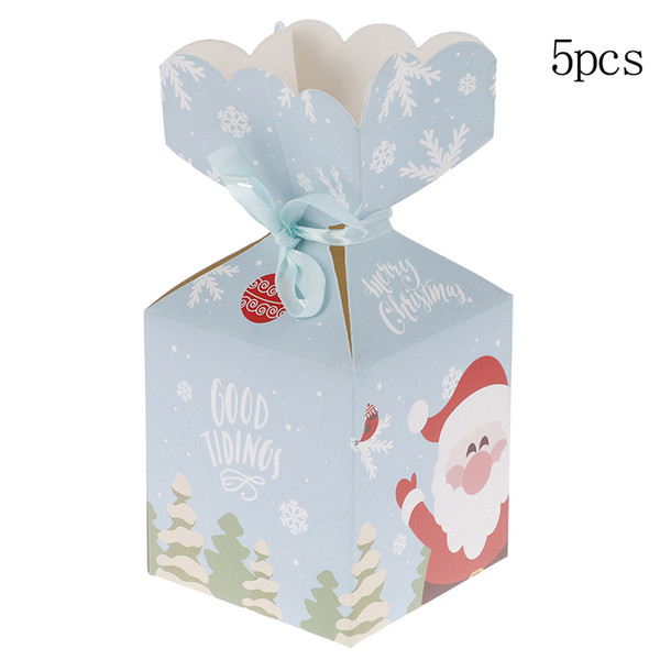 Candies Paperboard Christmas Gift Boxes Party Xmas Wrapping Decor Treat Supplies