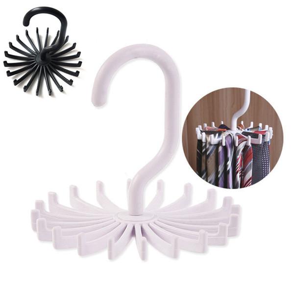 Rotation cravate organisateur cintre penderie organisateur suspendu stockage écharpe rack cravate rack détient cravates crochet T2I060