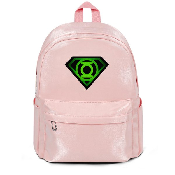 Package,backpack Green Lantern superman logo pink outdoor vintagepackage convenient limited edition gymbackpack