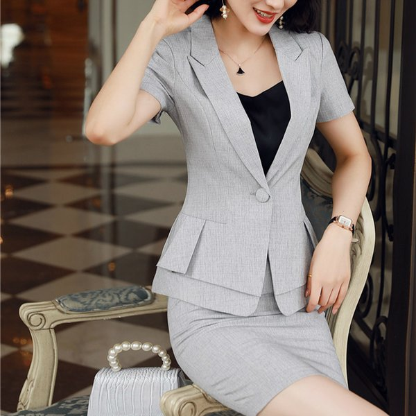 Gray Skirt Set