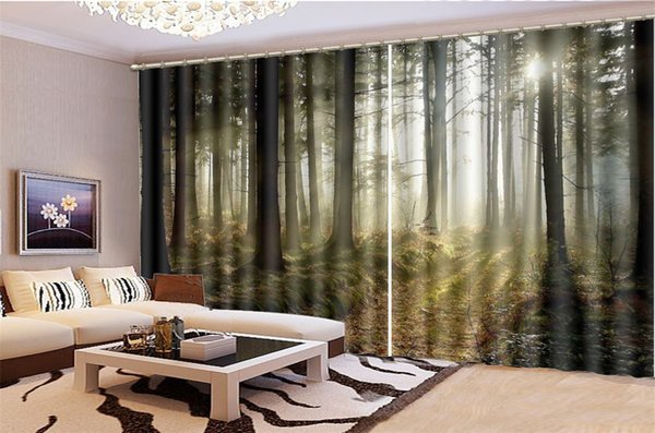 2019 3D Curtain Living Room Lush Virgin Forest Landscape HD Digital  Printing Interior Decoration Practical Blackout Curtains From Yunlin188,  $194.98 | ...