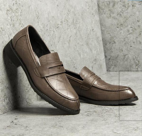 Add LOGO for free Dress shoes Korean version of business casual shoe British business shoes Italian Shoe mens designer shoes G5.29