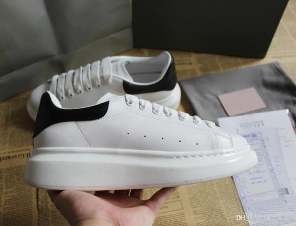Zapatos de diseñador de calidad superior El mejor regalo para el cuero genuino Diseñador de la zapatilla de deporte de la marca de lujo para hombre de las mujeres zapatos casuales de impresión leopardo Tamaño 35-46