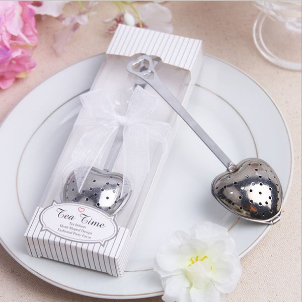 Tea Spoon Infuser Stainless Steel Tea Strainer Loose Leaf Herbal Filter Household Diffuser Wedding Party Favors 5 Piece ePacket