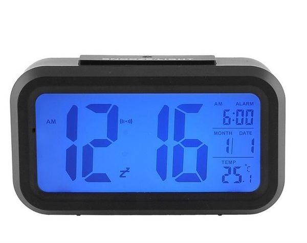 CHUN 2019 Mute Digital Alarm Clock Smart Sensor Nightlight LED Light Table Clocks With LCD Screen Plastic Timepiece Multi Function 14zj BB