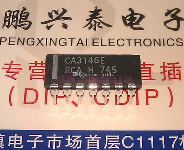 CA3146E . CA3146AE , PDIP14 / RF SMALL SIGNAL TRANSISTOR integrated circuits ICs / CA3146 Dual in-line 14 pins dip plastic package Chips
