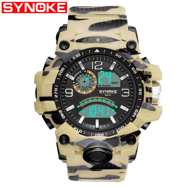 Daily 30m Water Resistant Camouflage Military Digital Watch Mens Fashion Sports Army Watches LED Electronic Wristwatches for Male Gifts