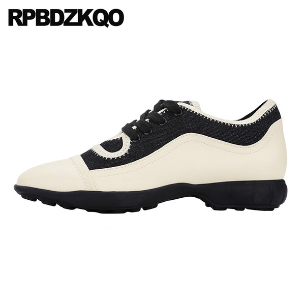 china wedge wide fit lace up korean chinese square toe trainers breathable black and white women retro canvas shoes sneakers