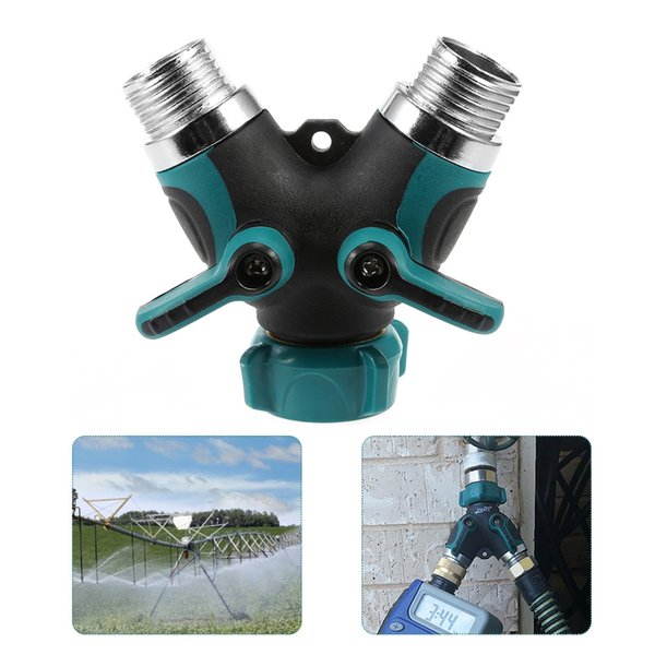 Garden Irrigation Y Valve 2 Ways Y-Connector 3/4 inch(US standard) water Tap pipe hose adapter Quick Coupler Drip Irrigation System Tools