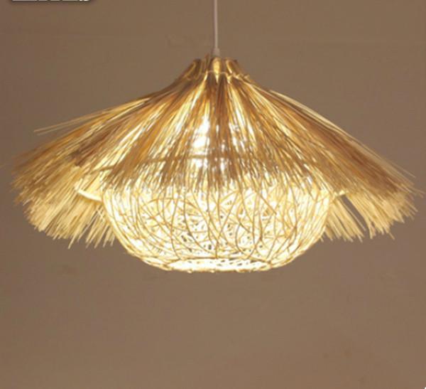 Lustre en rotin lampe de maison en nid de bambou bar restaurant restaurant balcon lustre sud-est de vin