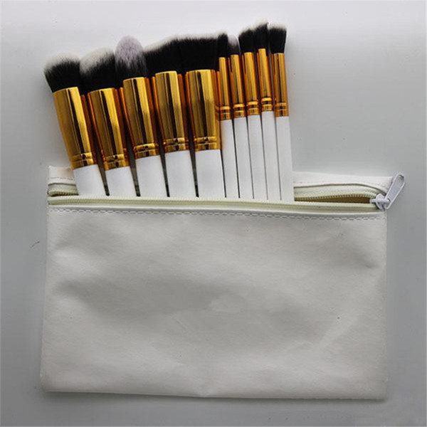 Hot Makeup Professional Brush set Cosmetic Foundation BB Cream Powder Blush 10 pieces Makeup Tools Black/White/Pink with Pouch DHL